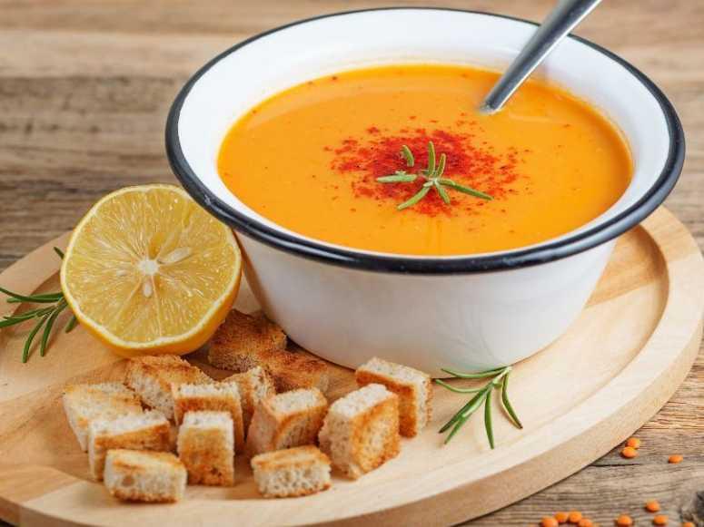 سوپ عدس قرمز (طرز تهیه)